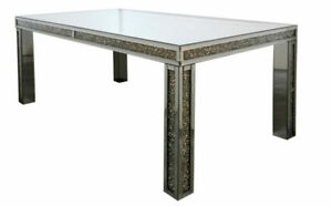 Modern Home Decor, Crushed Glass Dining Table