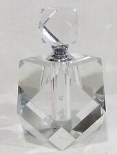 New In Box Oleg Cassini Prism 144260 Modernist Crystal Perfume Bottle & Stopper
