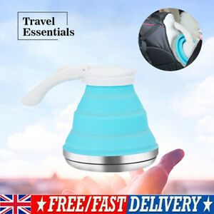 Collapsible Silicone Electric Kettle Portable Camping Foldable Mini Water Boiler