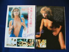 1980s Mia Nygren Japan VINTAGE 13 Clippings EMMANUELLE 4 VERY RARE