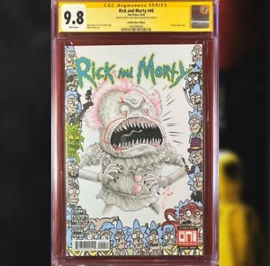 RICK AND MORTY #40 INFINITE RICKS VARIANT CGC 9.8 SS SKETCH BY MIKE VASQUEZ