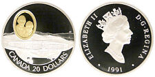 Canada 20 Dollars 1991 (Aviation, the Silver Dart) Ss Silver Proof #4339A