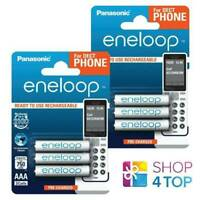 6 PANASONIC ENELOOP RECHARGEABLE AAA HR03 BATTERIES DECT PHONE 1.2V 750mAh NEW