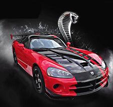 Bburago DODGE 1:24 Viper SRT 10 ACR Diecast Model Car Vehicle New Red Black