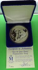 1987 Casa de Moneda 5 oz 999 Fine Silver Panda Commemorative Coin w/COA and Box