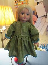 18 Inch Doll Clothes Handmade *Green Dress *