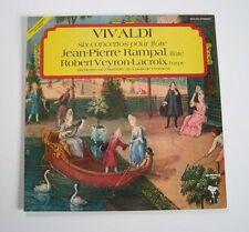 """VIVALDI """"Six concertos pour flûte Rampal / Veyron-Lacroix"""" (Vinyle 33t / LP)"""