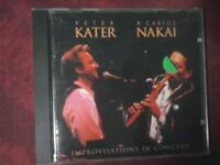 KATER PETER  & NAKAI R. CARLOS - IMPROVISATIONS IN CONCERT (1996). CD.