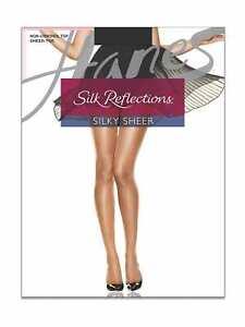 Hanes Silk Reflections Sandalfoot Pantyhose Hosiery - Women's