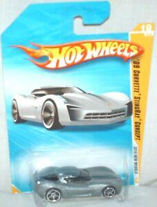 Hot Wheels 2010 New Models # 19 '09 Corvette Stingray Concept  excellent card