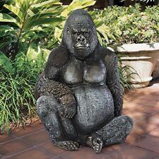 Life Size Giant Primate Black African Jungle Gorilla Lowland Ape New