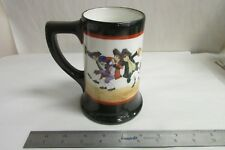 1908 LIMOGES FRANCE HAND PAINTED  DRUNK CHARACTERS CHRISTMAS BEER STEIN