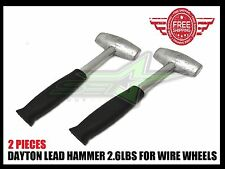 2 LEAD HAMMERS 2.6 LBS DAYTON TYPE WIRE WHEELS ADAPTER KNOCK OFF LUXOR OG ZENITH