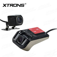 Dual Front+Rear DVR Vehicle Camera HD Hidden Video Recorder 720P Wide-Angle