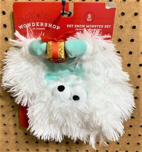 WONDERSHOP CHRISTMAS Dog Puppy Costume 2 Piece SNOW MONSTER Size S