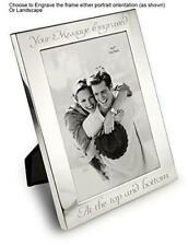 """Personalised 7"""" x 5"""" Silver Photo Frame - Can Be Engraved With Your Message"""