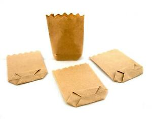 Dolls House Brown Paper Grocery Bags Miniature Shop Store Accessory 1:12 Scale