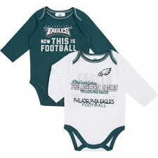 (2) Philadelphia Eagles nfl INFANT BABY NEWBORN Jersey Shirt 18M 18 Months