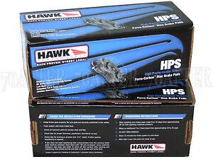 Hawk Street HPS Brake Pads (Front & Rear Set) for 04-07 Volvo S60R V70R w/Brembo