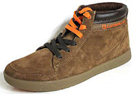 Caterpillar CAT Enfield 6 Eye Lace Up Suede Leather Cola Mens Hi-Tops Trainers