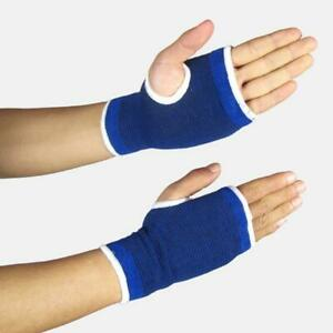 2 Blue Hand Palm Wrist Support Sleeve Bandage Sports Sprain Twist Arthritis Gym