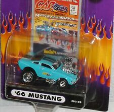 MUSCLE MACHINES Cartoons '66 Ford Mustang #C02-03 Real Riders Blue HTF