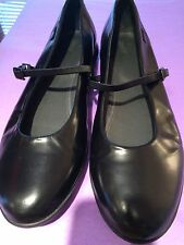 CAMPER Black Leather  MARY JANE SHOES Women 9 Euro 40 NARROW