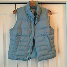 Ann Taylor Loft Light Blue Quilted Down-Filled Vest Size M