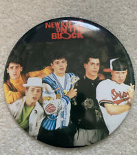 Vtg. 1989 New Kids On The Block Photo Pin back Butyon W/ Unused Stand 6�diameter
