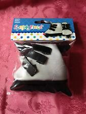 """Springfield Doll Clothes -Silver Inline Skates fits American Girl Or 18"""" Doll"""