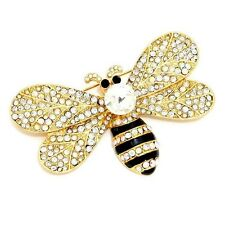 b5d94c2a0fb6 Abejorro Broche de Mujer Cristal Flor Pin Brillante 3