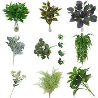 WO_ ARTIFICIAL PLANTS INDOOR OUTDOOR FAKE FLOWER LEAF FOLIAGE BUSH HOME DECOR ST