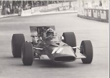 CHRIS AMON FERRARI 312 MONACO GP 1969 F1 ORIGINAL PERIOD LARGE PHOTOGRAPH PHOTO