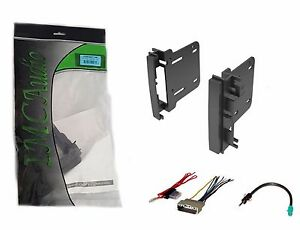Double Din Dash Kit for After Market Radio Install with Wire Harness & Antenna