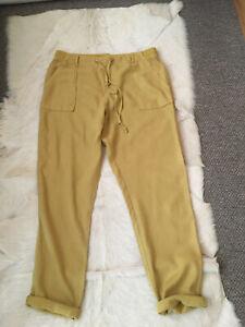 M&S Mustard Linen Trousers