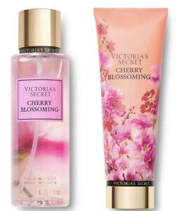 Victoria's Secret Cherry Blossoming Fragrance Mist Spray & Lotion Set NEW 8.4oz
