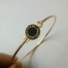 Marc by Marc Jacobs Black&Gold Disc letters Bangle Bracelet #B3193