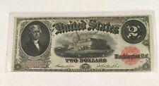 1917 $2 Bill Large Size No Tears! No Pinholes!   VF    Nice Note!