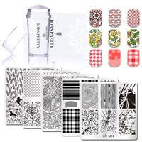 3pcs Manicure Kits Nail Art Stamping Plates Silicone Nails Stamper Scraper Set