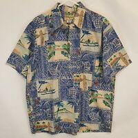 Reyn Spooner Mele Kalikimaka Christmas 1996 Sz XL Hawaiian 90s Pullover Shirt