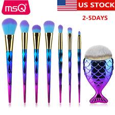 US 8Pcs Soft Powder Contour Makeup Brushes Set Foundation Eyeshadow Lip Blush