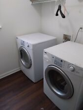 Lg Wm3500Cw 4.5 cu ft. Front Load Washing Machine - White & Dryer