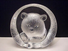 MATS JONASSON SWEDEN POLAR BEAR CUB CRYSTAL SCULPTURE WETLANDS WILDLIFE SERIES