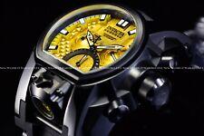 Invicta 52mm Reserve Bolt Zeus Magnum Yellow Dial Swiss Mvt Chrono Black Watch