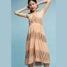 10da3756f038 Anthropologie Akemi Kin Womens Dress Small Peach Halter Empire Waist Swing  Ikat