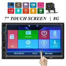 7'' Touch Screen Car Audio Radio MP5 Player Built-in GPS Bluetooth Stereo+Camera