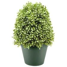 National Tree Company 15 in. Boxwood Artificial Tree Dark Green Round Plastic