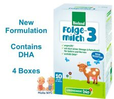 Holle Lebenswert Stage 3 Organic Infant Formula -Dha- 4 Boxes 475 Free Shipping