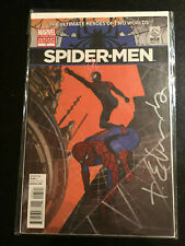 SPIDER-MEN #5 Dice VARIANT cover edition SIGNED Tommy Lee Edwards 9.2 Ireland
