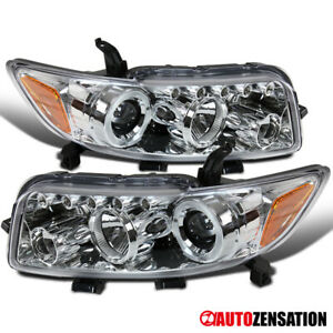 For 2008 2009 2010 Scion xB Clear Halo Rim Projector Headlights Lamps+ LED DRL